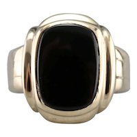 Unisex Retro Era Black Onyx Ring