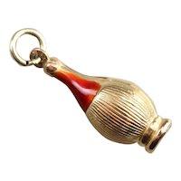 Italian Chianti Bottle Enamel Charm