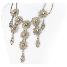 Gorgeous Floral Filigree Necklace