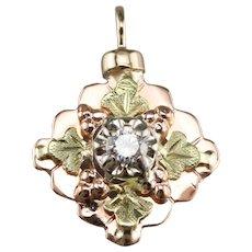 Black Hills Style Upcycled Diamond Pendant