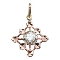 Pretty Upcycled Mixed Metal Diamond Pendant