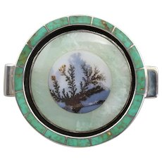 Banda River Agate Turquoise and Aventurine Money Clip