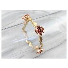 Retro Era Rose Link Bracelet