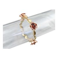 Retro Era Rose Link Bracelet