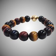 Three Color Tiger Eye Bracelet
