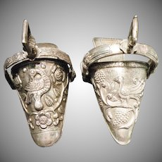 Antique Argentina Made Coin Silver Side Stirrups  Circa 1876.  price is each. sold by pair, $1000.00