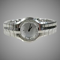 Stainless Steel & Diamond  Tag Heuer Ladies Watch Vintage.