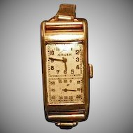 Very Rare Vintage Gruens Doctors Watch Mens, Gruen Curvex Precision 10 Karat Yellow Filled Gold Manual Wind 17 Jewel Watch