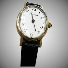 Vintage 14K Yellow Gold Cartier Ladies Watch