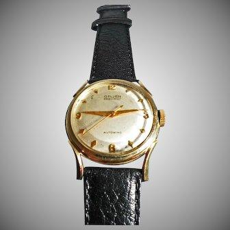 14 K Yellow Gold Vintage Men's Gruen Autowind Watch