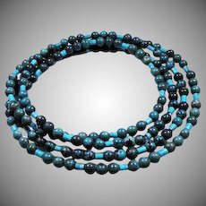 Natural Turquoise Vintage Necklace 42 inch.