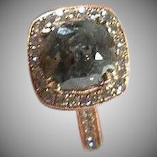 14 K Rose Gold Vintage Handmade Raw Diamond Ring