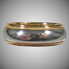 Tiffany & Co. Platinum and 18K yellow Gold Ladies Band Size 4.5.