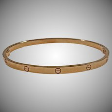 Estate 18K Rose Gold Cartier Love Bracelet included screw driver and original box.