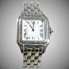 Cartier  ladies stainless steel Tank Panther  watch