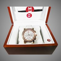 Michele Limited edition Jetway  diamond bezel ladies watch Rose Gold