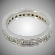 18 K White Gold Diamond Eternity Band Princess Cut Approx. 2.00Cttw Each