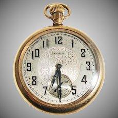 14K Gold Filled  Antique Elgin Pocket Watch