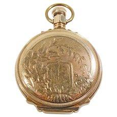 Antique 14K Yellow Gold Waltham Pocket Watch 1880'S