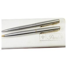 Vintage Sterling Silver Parker Pen & Pencil Set Circa 1940's Original box