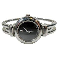 Estate Vintage Movado Ladies Harmony Stainless Bracelet Watch