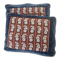Blue Beaded Pillows