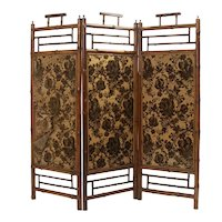 Mid 19th Century Bamboo  Folding Screen
