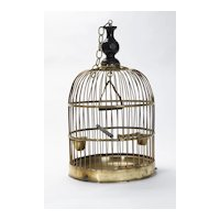 Brass Bird Cage- English Circa 1898