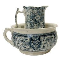 Early English Pitcher and Bowl Set