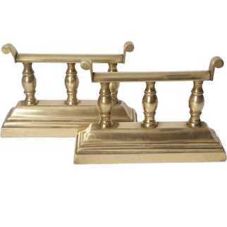 Brass Book Ends 1875 English