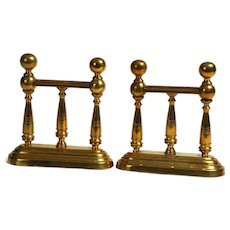Brass Bookends English Late 1800's