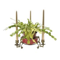 Brass Candle centerpiece French 1890's