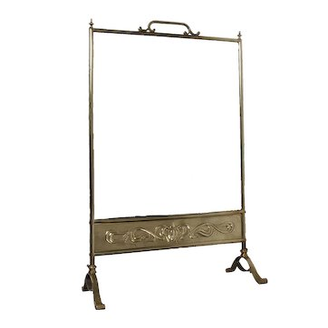 Brass and Mirror Fire Screen