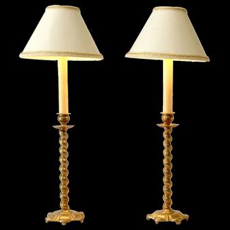 Brass Candlestick Lamps