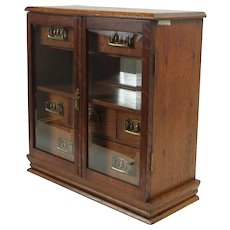 Brass and Oak Humidor