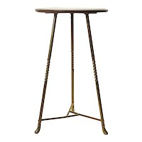 Brass and Oak Table Stand