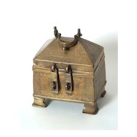 Small Chinese Brass Treasure Box, Circa 1800