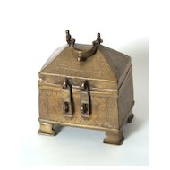 Small Chinese Brass Treasure Box, Circa 1800