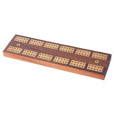 Circa 1905 Wooden Cribbage Board