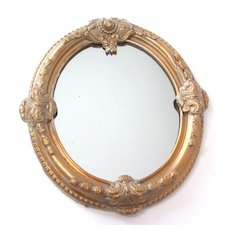 Victorian Mirror with Gilt Frame, c. 1875