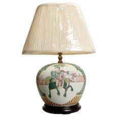 Beautiful Chinese Ginger Jar Lamp