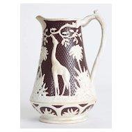 Jasperware Brown and White Giraffe Pitcher