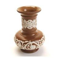 "Gorgeous 5"" Tall Jasperware Vase, c. 1875"