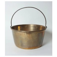 Large English Brass Pot with Handle