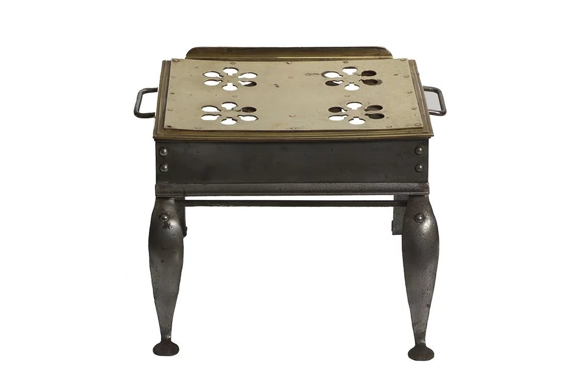 Brass Amp Pewter Footman Carriage Step Stool Dwr Antiques