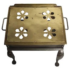 Brass & Pewter Footman Carriage Step Stool