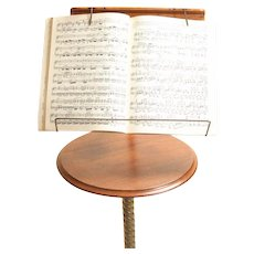 Oak and Brass Music Stand