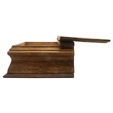 Oak Mini Writing Box and Desk turn of the century