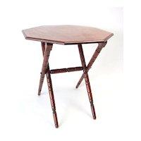 Octagonal Folding Table circa 1875