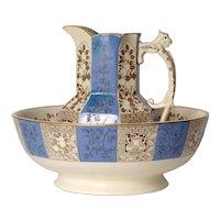Late/Mayers Bowl and Pitcher Set English circa 1800's
